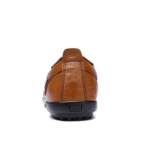 fei Hombre Gpf Loafers Oficina Primavera Casual amp; Y 37 Carrera Negocios Formales ons Conducción Zapatos darkbrown Slip De Otoño Para Nuevos Hombre vwdrw
