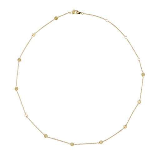 HONEYCAT Milky Way Disc Chain Necklace in Gold, Rose Gold, or Silver | Minimalist, Delicate Jewelry (Gold) - Glitter Disc