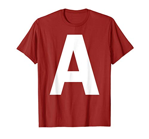 Alvin And The Chipmunk Halloween Costume (Initials Name Letter A Chipmunk Halloween Christmas Costume)