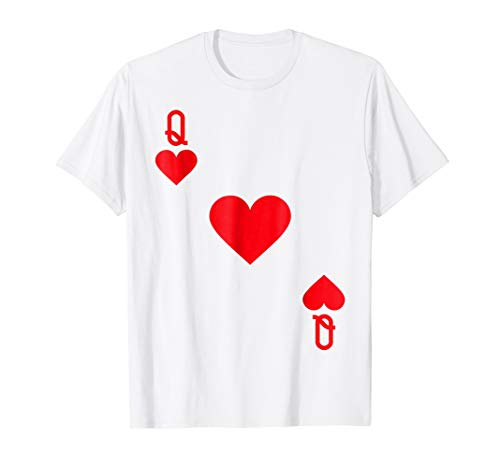 Casino Themed Halloween Costumes (Queen of Hearts Costume T-Shirt Halloween Deck of)
