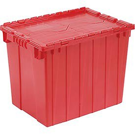 Distribution Container DC2115-17 With Hinged Lid 21-7/8x15-1/4x17-1/4 Red by Monoflo