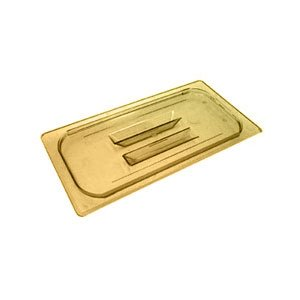 Cambro 30HPCH150 H-Pan High Heat Food Pan Lid w/ Handle, Amber, 1/3 Size, Pack of 6 by Cambro