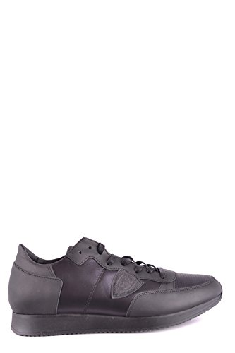 Philippe Model Mens Shoes - Philippe Model Men's Mcbi238077o Black Leather Sneakers