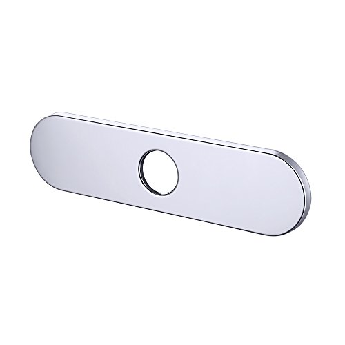 KES 10-Inch Kitchen Sink Faucet Hole Cover Deck Plate Escutcheon, Polished Chrome, PEP3S26