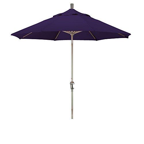 9' Aluminum Market Umbrella Auto Tilt Champagne/Pacifica/Purple