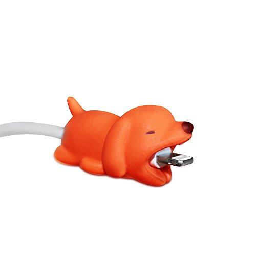 Spicy Bites Cable Bite Accessory for iPhone. Cute Animal Accessory That Protects and Decorates Charging Cord/Cable. Animal Bite Cable Protector (Dog)