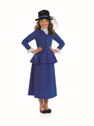 Victorian Mary Poppins Girls Childs Fancy Dress - M 124cms - Victorian Girl Fancy Dress Costume