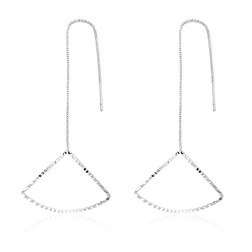 925 Silver Plated Hollow Umbrella Long Dangle Earring from Streetregion