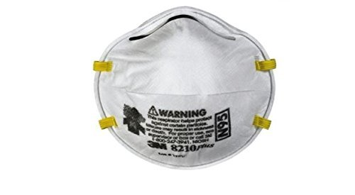 3M Standard N95 8210Plus Disposable Particulate Respirator With Braided Headband And Adjustable Nose Clip - Meets NIOSH And OSHA Standards (20 Packs)