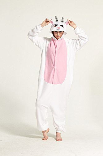Unisex Adult Pajamas - Sheep Plush One Piece Cosplay Jumpsuit Animal Costume non Footed Pajamas (Small) (Sheep Onesie For Adults)