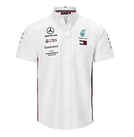 Whybee 2019 Mercedes-AMG F1 T-Shirt /à Manches Courtes pour Homme Lewis Hamilton