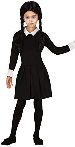 Wednesday Addams Costumes Child - Girls Black Creepy Spooky Scary TV