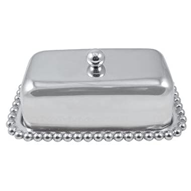 Mariposa Pearled Butter Dish
