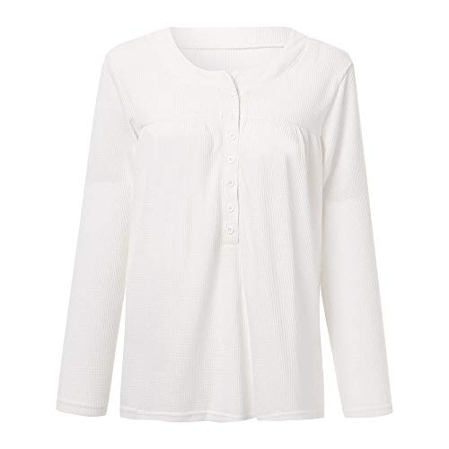 Longues Blanche Shirt Automne Blanc Longues Manches Tee Chemise lache kingwo Manches ERqXXB