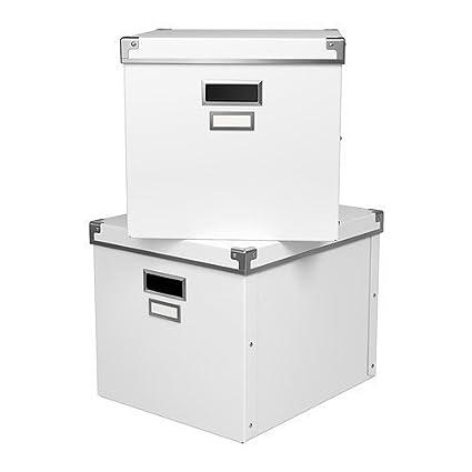 Ikea Kassett Magazine Box Storage With Lid White - 2 Pack  sc 1 st  Amazon.com & Amazon.com : Ikea Kassett Magazine Box Storage With Lid White - 2 ...