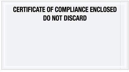 5 1//2 x 10 Full Face, Red//Black Packing List//Cert of Compliance//Cert. of Analysis TapePlanet Transportation Envelopes 1000 Per//Case
