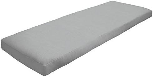 Amazon Custom Furnishings x Easy Way Products 20597 Custom Zipped Knife Edge Bench Cushion, 50 x 16 x 2.5 Pebbletex Grey 94
