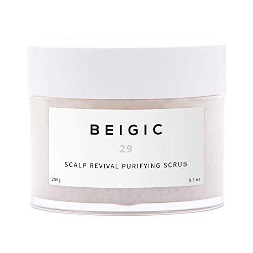 BEIGIC Scalp Revival Purifying Scrub - A Sulfate& Silicone free, Scalp Exfoliating Shampoo with Sea Salt and Mint Menthol for Dandruff & Deep Cleansing Oily Scalp. Vegan & Cruelty free - Purifying Scalp Shampoo