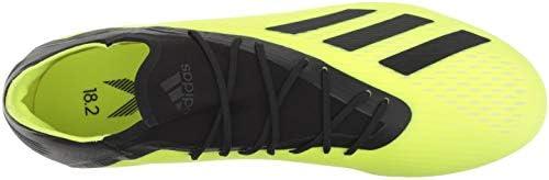 adidas Men's X 18.2 Firm Ground Soccer Shoe, Solar Yellow/Black/White, 6.5 M US