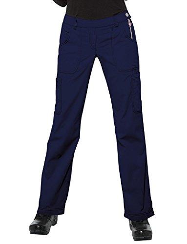 KOI Classics Women's Sara Flat Front Flared Scrub Pants Small (Flat Front Scrub Pants)