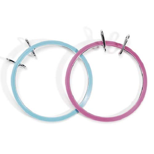 Darice, 1 Piece, Spring Tension Hoop, 5 inch, Blue and Mauve assorted