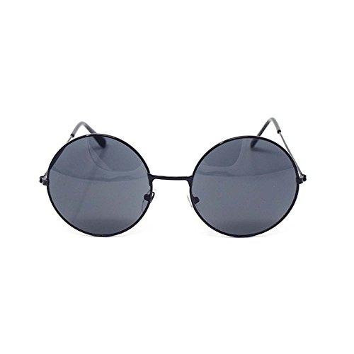 Clásico Unisex Calidad UV400 Estilo Gafas Gafas Lennon John Vintage Retro Elton Sol Redondas Adultos Plata Negro de UltraByEasyPeasyStore Hombres con Lentes Marco Espejadas Mujeres Bq1Tap