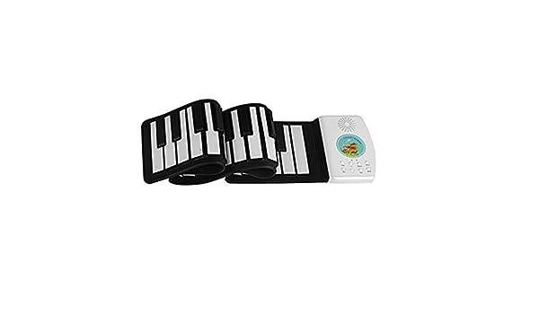 Lukame✯ Teclado de Piano Portátil Enrollable Para Niños Principiantes Con Pedal de Sostenido Blanco Instrumentos Y Accesorios Musicales (49 Llaves): Amazon.es: Bricolaje y herramientas