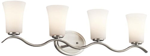 Kichler 45377NI Armida Bath 4-Light, Brushed Nickel