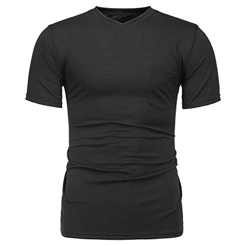 Giulot Mens Ultra Cotton Tee Breathable Active Gym T-Shirt Men's Premium Fitted Sueded Crewneck Tank Black