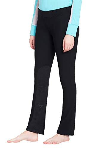 TuffRider Women's Ribbed Boot Cut Tights Breech, Black, 28 ()