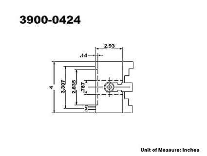 3900-0423 3 4-JAW PLAIN BACK SELF-CENTERING LATHE CHUCK HHIP