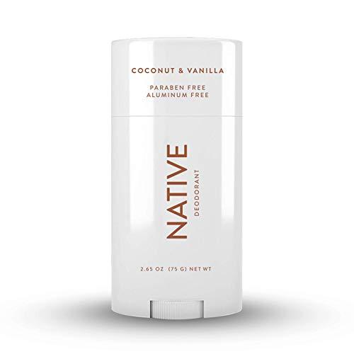 Native Deodorant - Natural Deodorant for Women and Men - Vegan, Gluten Free, Cruelty Free - Aluminum Free, Free of Parabens & Sulfates - Coconut & Vanilla