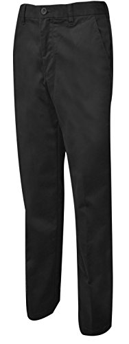 IZOD Men's Performance Stretch Straight Fit Flat Front Chino Pant, Black, 34W x 32L by IZOD