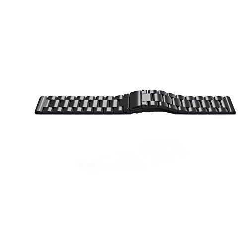Samsung Gear Sport Watch Band , 20mm Stainless Steel Band + Milanese Loop Mesh Stainless Steel Metal Business Replacement Bracelet Strap for Samsung Gear Sport Smart Watch (2 black.) Photo #2