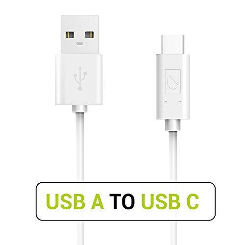USB Type C Cable, ZeroLemon USB C to USB A 3.3ft Fast Charging Sync Cable for Nintendo Switch, Samsung S9 S8 Plus Note 9/8 MacBook Pro LG V30 iPad Pro 11 12.9 2018 and More (White)