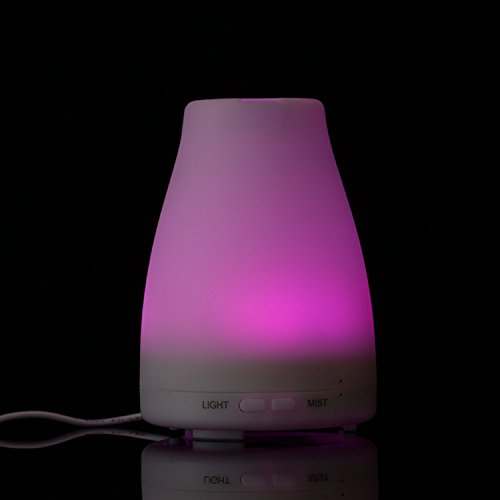 ZJKC 100 Milliliter Essential Oil Diffuser 7 Colors Changing Aromatherapy Ultrasonic Air Humidifier with LED Lights, Cool Mist Diffusers for Home Photo #3