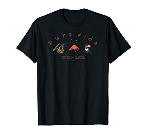 Costa Rica Sloth Volcano Toucan Souvenir T-shirt