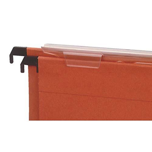 Orange Pack of 50 Esselte 10402 Orgarex Foolscap Suspension File Kraft V-Base 15 mm Capacity