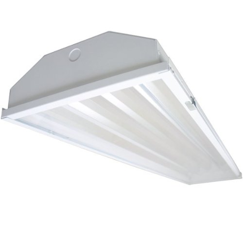 4-lamp T5 HO High Bay Fluorescent Lighting Fixture High Output T5HO, 120-277V with Acrylic Lens Dust Proof (High Bay Fluorescent)