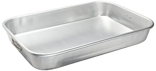 Adcraft PBR-1218 16-Gauge Heavy-Duty Aluminum Bake and Roast Pan with Drop Handle