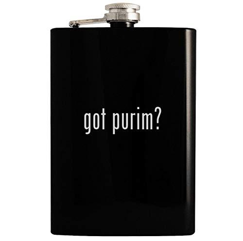 got purim? - 8oz Hip Drinking Alcohol Flask, Black (Purim Video)