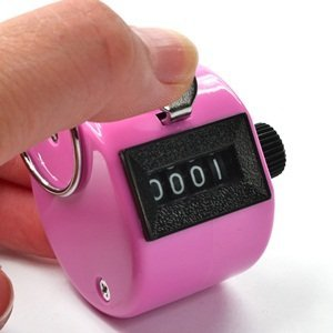 Green Colore rosso 44JIU44/Handheld Tally Counter 4/DIGIT display for lap//sport//Coach//School//Event