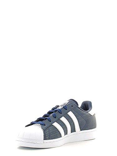adidas Superstar White Black White Bleu