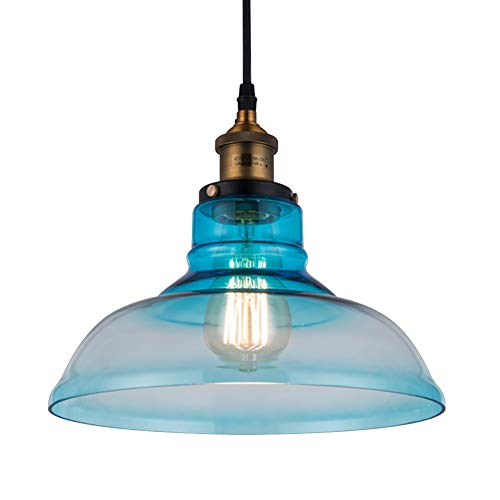Small Blue Glass Pendant Lights in US - 1