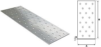 20x LP 4 Lochplatten Holzverbinder Nagelplatten Flachverbinder Lochbleche
