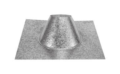 Dura Vent 9049V 6-Inch 0/12-6/12 Adjustable Roof Flashing (Storm Collar Fireplace)