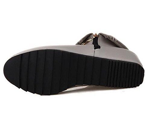 goma desgaste de Rojo black Blanco cremallera de resbalón resistente cortas cuatro estaciones HLas doble negro Gris al H las de altura de interior mujeres Azul cara alta la de 39 la botas pq0FwEAg