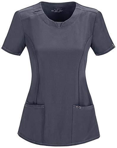 Infinity by Cherokee 2624 Round Neck Scrub Top- Pewter- 2X-Large