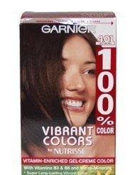 Garnier 100% Color Intense Gel-Creme Color, Permanent, Deep Brown -