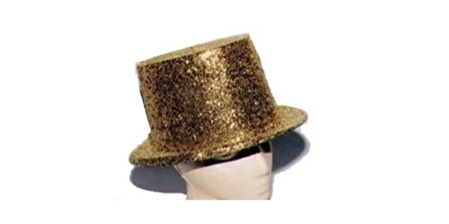 DanceNwear Sequin Glitter Top Hat (Gold)
